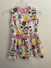 Misha LuLu Little Girl's Dress Size 6 Circus Print 100% Cotton