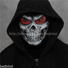 Red eyes Grim reaper mask Balaclava  cosplay GRIM mask skull face  Rib fabrics
