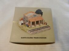 Santa Elena Train Station Figurine from the Pueblo Encantado Collection 1994