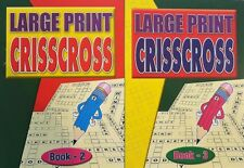 2 x  LARGE PRINT  Criss Cross books,Enrich Your Word Power one of BEST, XMAS