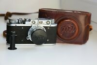 RARE FED-1 35mm SOVIET Rangefinder Film Camera copy Leica ws lens FED EXC