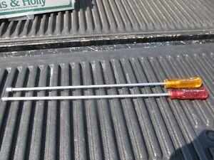 2 Xcelite Magnetic Nut Drivers 21 Inch Long LL10M 5/16, LL8M 1/4