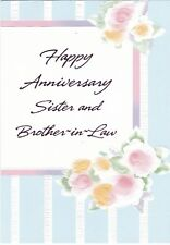 Anniversary Card with Envelope for Sister & Husband