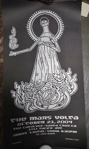 The Mars Volta 10/24/2004 Poster Silk Screen Signed & Numbered 14x25