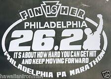 2019 any year Philadelphia Marathon Finisher Decal iPad,Luggage,Suit, Car