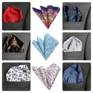 Men`s Pocket Square Hanky Handkerchief Hankie Paisley