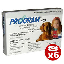 PROGRAM 400, ANTIPULGAS PERROS (20 - 40 KG) / FLEA TREATMENT  - 6 COMPRIMIDOS