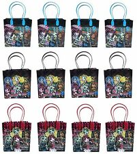 (12ct) Monster High Birthday Bags Gifts Bags Goodie Bags Loot Bags Goody Bags
