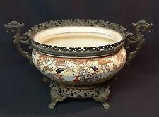 1820 porcelaine japon belle jardinière 38c2kg coupe vide poche monture bronze
