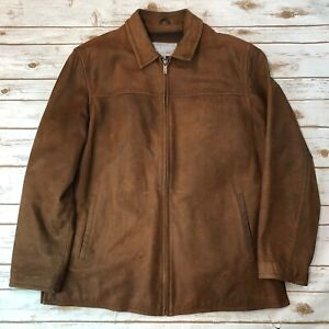 M. Julian Wilson's Leather Men's XLT XL Tall Zip Brown Jacket Coat Thinsulate