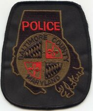 BALTIMORE COUNTY MARYLAND MD Black Green Red POLICE PATCH