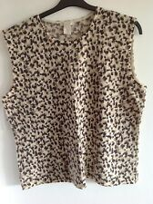 Ladies animal print angora and lambs wool top XL Dean and White