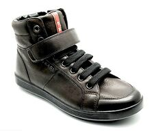 Prada Sneakers Trainers Leather High Top Shoes Brown 7US/6UK New