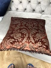 Beautiful Decorative Cushion Plain Or Damask With Beads Rich Colour