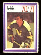 1970-71 ESSO POWER PLAYERS NHL #3 FRED BARRETT EX+ NORTH STARS UNUSED STAMP