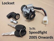 Lockset, for Peugeot Speedfight 2 (2005 on) Speed Fight Ignition Barrel Lock Set