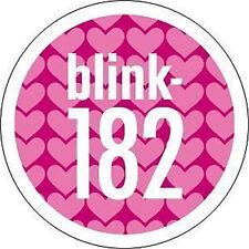 BLINK 182 Pink Hearts Logo Sticker NEW OFFICIAL MERCHANDISE RARE Punk Rock