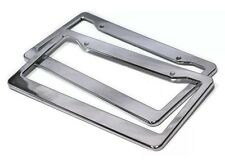 2pc ABS Chrome HD Plastic License Plate Frame Tag Cover Car SUV Van Truck