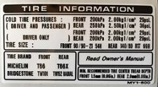 Honda XRV750 Africa Twin pneu attention Avertissement étiquette Autocollant