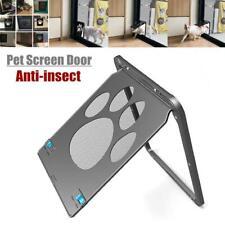 Automatic Cat Dog Home Lock Pet Screen Door Nylon Mesh Gate Way Close 24x29CM