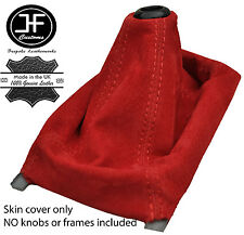 RED  REAL SUEDE MANUAL SHIFT BOOT FITS ACURA INTEGRA 1990-2001