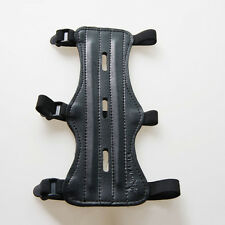 Hot 3 Straps PU Leather Shooting Archery Arm Guard Protection Safe Guard Tool UK