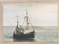 Ken Perry Fishing Boat on Sea Watercolour Painting