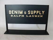 Authentic Denim & Supply Ralph Lauren Metal/Wood Advertisement Signs