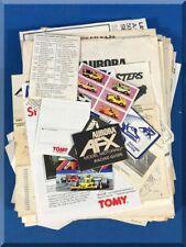AURORA MODEL MOTORING AFX HO SLOT CAR RACING MANUALS PAPERWORK INSTRUCTIONS LOT