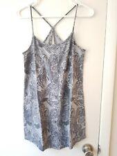 NWT!! AE American Eagle Gray Floral Spaghetti Strap Dress w/ Open Back - MEDIUM!