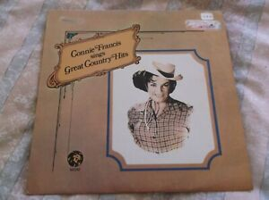 Connie Francis – Connie Francis Sings Great Country Hits,  1962 Vinyl LP.