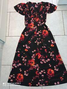 Vintage 70-80er schönes Langes Damen Kleid   gr 44