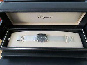 CHOPARD 18 Carat White Gold Automatic Wristwatch.18ct White Gold Milanese Strap.