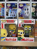 Funko POP! Comic Book Guy #832 & Ned Flanders #833 Simpsons NYCC 2020 Fall 🔥🔥
