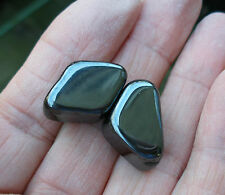 2 - STRONG MAGNETIC HEMATITE TUMBLESTONES STONES CRYSTALS - GIFT BAG & ID CARD