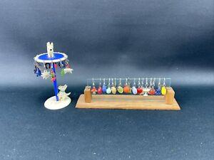 Alte Glasmerker Glasmarker mit Ständer Plastik Cocktail Bowle Zubehör