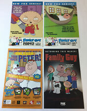 lot of four FAMILY GUY tv show ad pages ~ STEWIE, PETER, MAFIA, VIDEO GAME