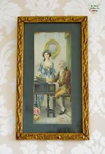 1920s Art Print Scroll Framed Rare 18th Century Pianos Musical Instruments