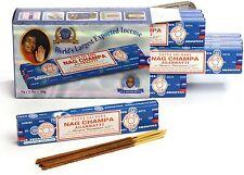 Satya sai Baba Nag Champa 15g Bastoncini di incenso X12 Packets- India