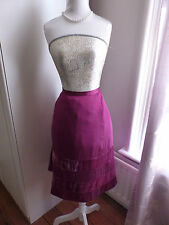 Wintry Velour by Noa Noa size M dark pink silk blend skirt with velvet BNWT
