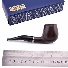 "NEW Wooden Tobacco Smoking Pipe bent ""Billiard L"", Beech wood, cooler, ~ 5-1/8"""