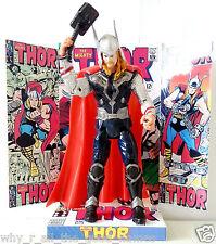 "Marvel THOR 6"" ACTION FIGURE on One Of A Kind Custom Card COMIC Design Display"