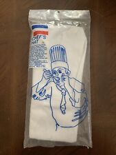 New listing *New*Now Designs Tall White Cloth Chef's Hat Gros Bonnet Haute Toque Adjustable