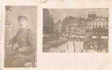 1. Weltkrieg, Parade in Lille, Frankreich und Soldaten-Porträt, Foto-Ak um 1915