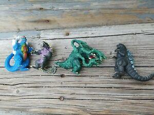 Vintage 1994 and 1995 TOHO Trendmasters Godzilla Action Figure Lot