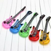 Fun Inflatable Guitar Blow Up Party Toy Kids Rock Air Dress Up Random HOT NEW