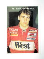 BERNARD SCHNEIDER FORMULA F1 PILOT RACER POCKET CALENDAR CARD