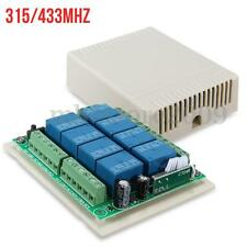 12V 8 Channel CH 315/433MHZ Wireless RF Remote Control Relay Switch Receiver
