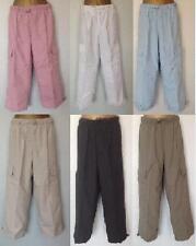 JOBLOT 4 x pairs Ladies crop beach lightweight summer holiday combat trousers