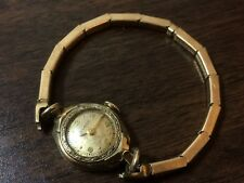 Vintage 1944 Bulova Ladies 17J Mechanical Watch 10k RGP Sterling Base - Working